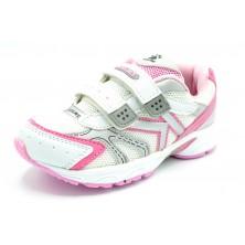 Kelme Zoe rosa - Zapatilla deportiva running con velcro para niña