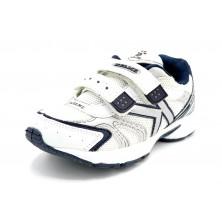 Kelme Zoe blanco marino - Zapatilla deportiva running con velcro para niño