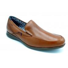 Fluchos 9762 Vacheta Cuero - Zapato sin cordones, plantilla extraible.