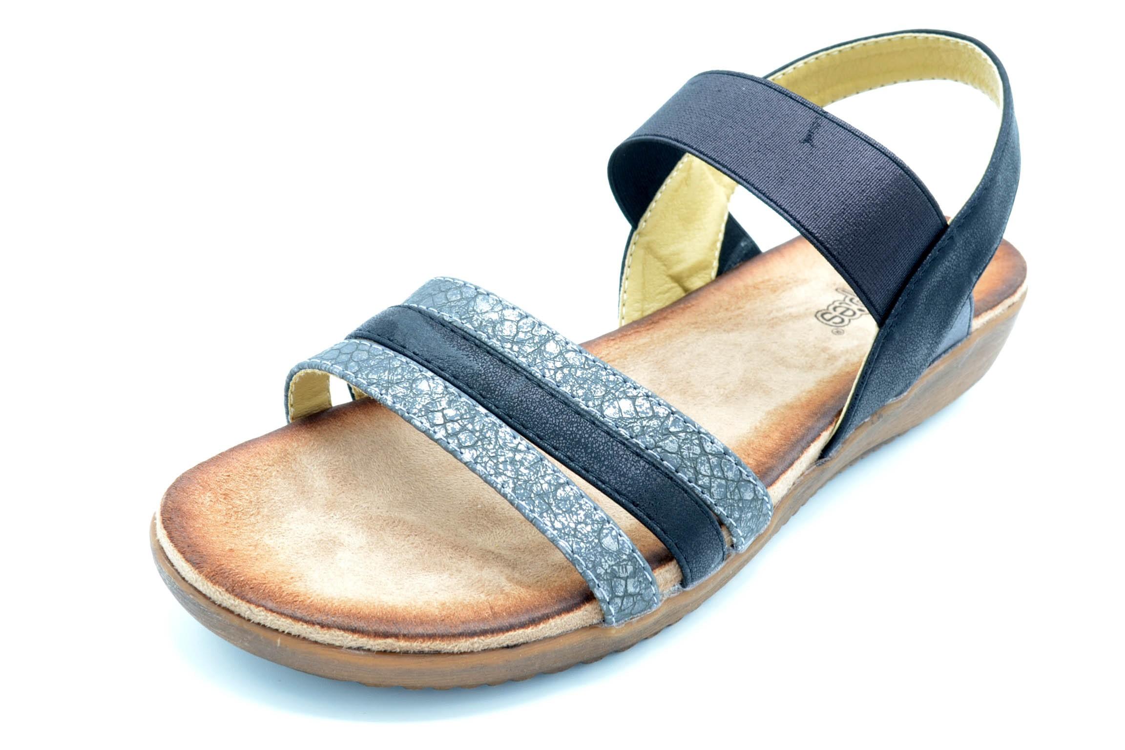 Sandalia Negro De Amarpies Mujer Abz12102 yb76gf