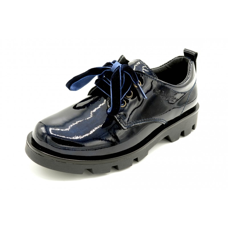 1b96c73e96e Pablosky 326529 Kayak Marino - Zapato charol con cordones para niña.
