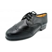 Drucker 985 Negro - Zapato de piel con abrigo