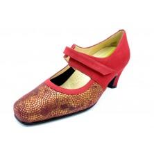 Drucker Calzapedic 24172 Rojo - Zapato vestir con plantilla extraible
