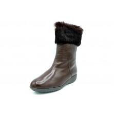 Drucker Calzapedic bota de piel con abrigo, color marrón