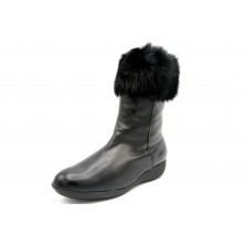 Drucker Calzapedic bota de piel con abrigo, color negro