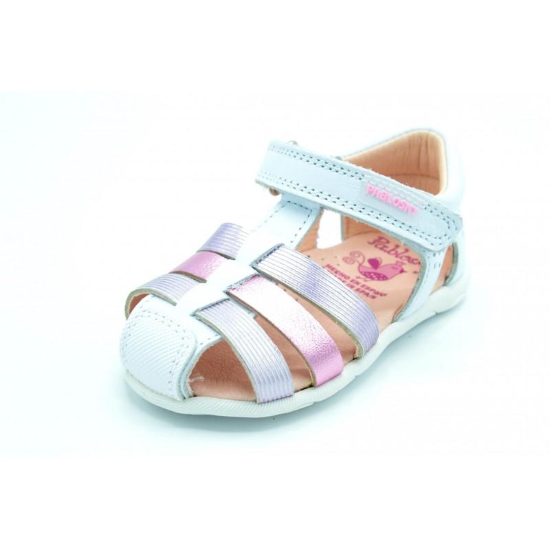 bien baratas zapatos deportivos reputación confiable Pablosky 046007 - Sandalia de piel para niña, primeros pasos