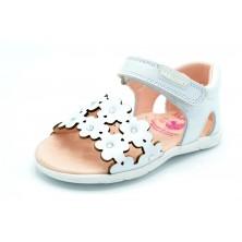 Pablosky 073300 blanco - Sandalia de piel para niña primeros pasos