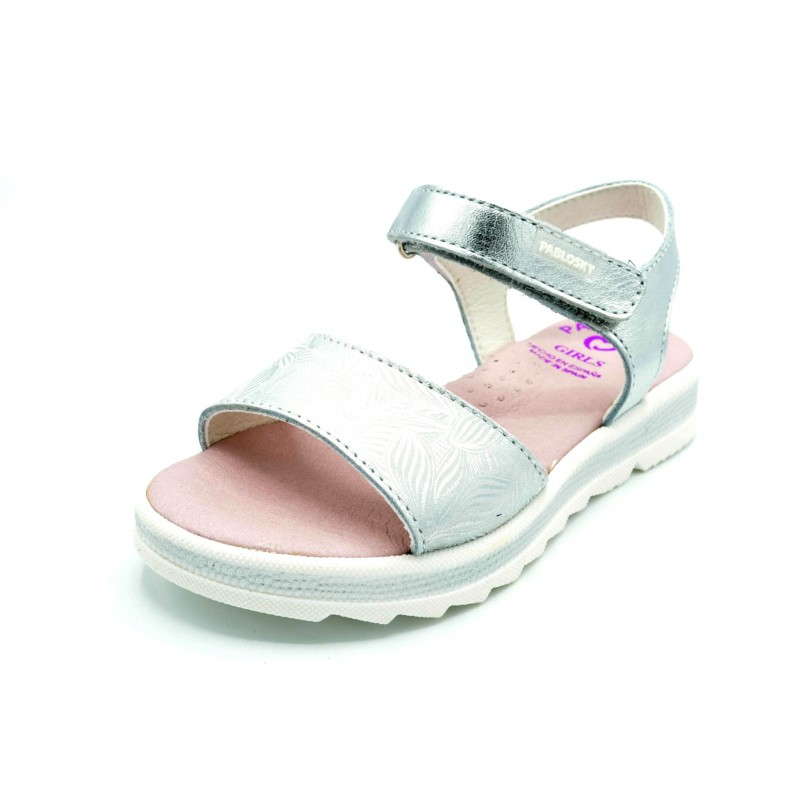 Pablosky 467250 blanco/plata - Sandalia de vestir para niña