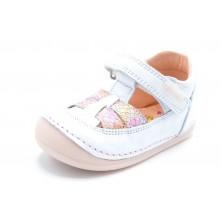 Pablosky 069005 Blanco/Rosa - Zapato primeros pasos para niña