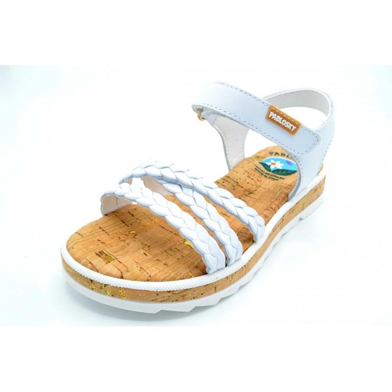 Pablosky 470400 Blanco - Sandalia de vestir para niña