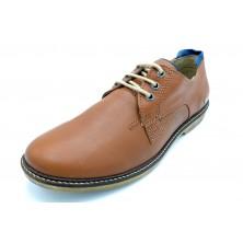 Alex 2779 Cognac - Zapato de vestir con cordones para hombre