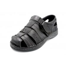 LGZ Q1763 Negro - Sandalia de piel para hombre