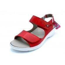 Fluchos Solly F0763 Rojo - Sandalia de piel con plantilla extraible