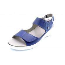 Fluchos Solly F0763 Azul - Sandalia de piel con plantilla extraible
