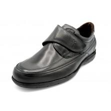 Fluchos Luca 8782 Negro - Zapato de piel con cierre de velcro