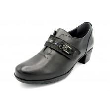 Fluchos Charis F0587 Sugar Negro - Zapato abotinado de piel