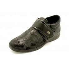 Muro 8055 Negro - Zapatilla de paño elástico con velcro