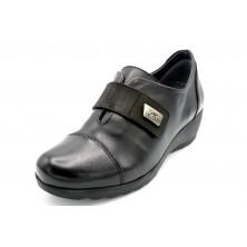 Fluchos MAR F1071 Sugar Negro - Zapato de piel con cuña