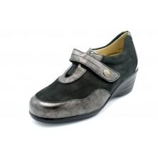 Drucker Calzapedic 24166 Negro - Zapato cuña plantilla extraíble