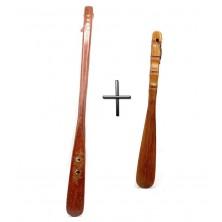 Set 2 Calzadores de madera - 55 cm y 32 cm