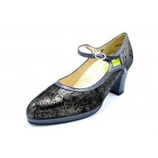 Drucker 25357 Níquel - Zapato de tacón con plantilla extraíble