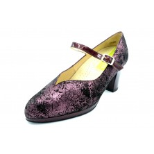 Drucker 25355 Burdeos - Zapato de tacón con plantilla extraíble