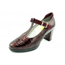 Drucker 25657 Burdeos - Zapato de tacón plantilla extraíble