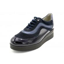 Drucker Charol Cordones - Zapato de piel plantilla extraíble