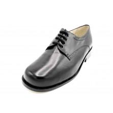 Drucker 25775 Negro - Zapato de piel con plantilla extraíble