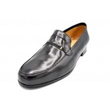 Paco Cantos 163 Negro - Zapato de vestir con suela de cuero