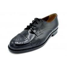 Paco Cantos 1489 negro - Zapato de piel con suela de cuero