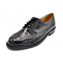 Paco Cantos 1511 negro - Zapato de piel con suela de cuero