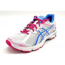 Asics Gt-1000 gs white powder pink - Zapatilla de running