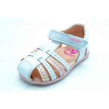Pablosky 092607 Olimpo blanco/rosa - Sandalia de piel