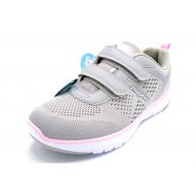 J´Hayber Chelico Grey - Zapatilla deportiva con velcro