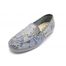Muro 815 Azul | Zapatilla de lona elástica | Plantilla extraíble