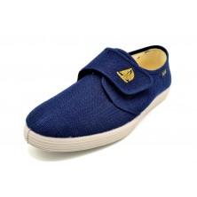 Isasa 118 Azul | Zapatilla de lona | Cierre de velcro