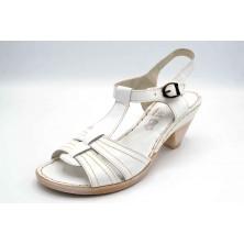Porronet 5070 Blanco | Sandalia de piel