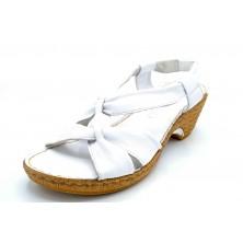 Porronet 5281 Blanco | Sandalia de piel con tacón
