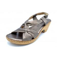 Porronet 5281 Bronce | Sandalia de piel con tacón