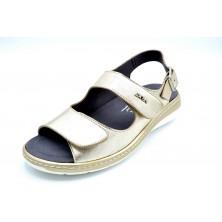Drucker Calzapedic 5485 | Sandalia de piel horma ancha | Plantilla extraíble