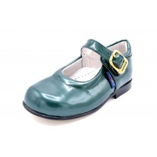 Nenuco mercedita verde | Zapato de piel para niña