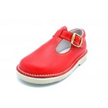 Neck & Neck 4036 Rojo | Zapato de piel para niño