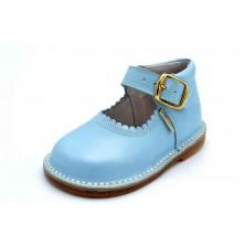 Nenuco 4099 Azul | Zapato de piel para niña