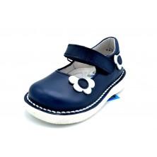 Nenuco 4287 Azul | Mercedita de piel para niña
