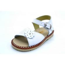 LGZ 1078 Blanco | Sandalia de piel para niña