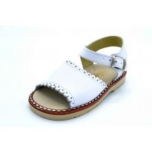LGZ 2186 Blanco | Sandalia de piel para niña
