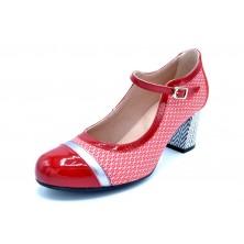 Dorking by Fluchos D8511 Rojo | Zapato de piel con tacón 7 cm | Hecho en España