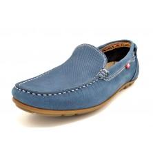 Fluchos Silva F9075 Nobuk Jeans | Mocasín de piel para hombre