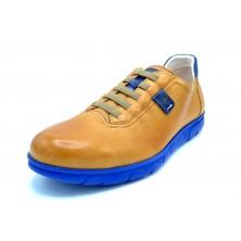 Fluchos Iron F0848 Samum Camel | Zapato de piel cordones elásticos